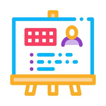 Man Result Board Icon Vector. Outline Man Result Board Sign. Isolated Contour Symbol Illustration Иллюстрация