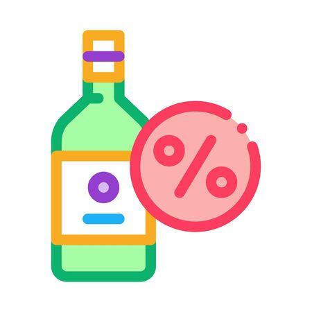 Drink Bottle Icon Vector. Outline Drink Bottle Sign. Isolated Contour Symbol Illustration Ilustração