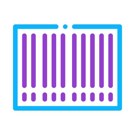 Barcode Bar Code Icon Vector. Outline Barcode Bar Code Sign. Isolated Contour Symbol Illustration