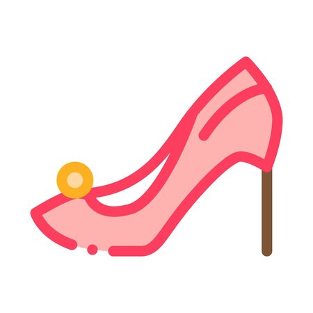 Female Shoe Icon Vector. Outline Female Shoe Sign. Isolated Contour Symbol Illustration Ilustração