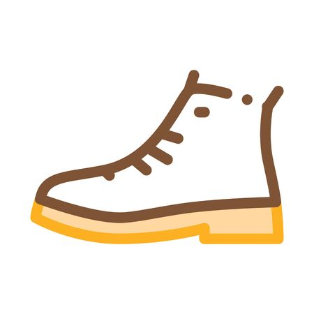 Repaired Shoe Icon Vector. Outline Repaired Shoe Sign. Isolated Contour Symbol Illustration Ilustração