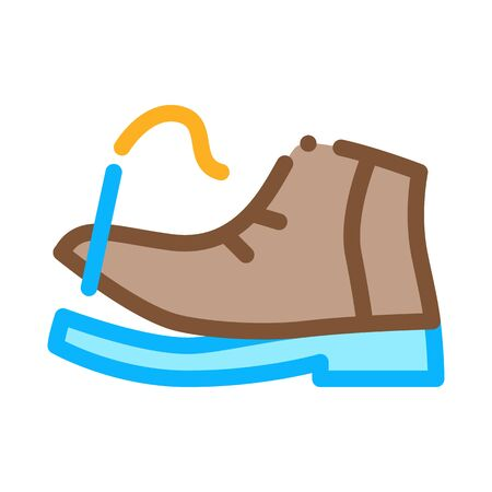 Torn Shoe Thread Icon Vector. Outline Torn Shoe Thread Sign. Isolated Contour Symbol Illustration Ilustracja