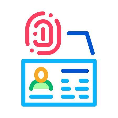 Fingerprint Scan Icon Vector. Outline Fingerprint Scan Sign. Isolated Contour Symbol Illustration