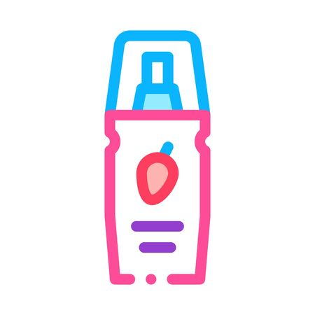Sex Grease Bottle Icon Vector. Outline Sex Grease Bottle Sign. Isolated Contour Symbol Illustration
