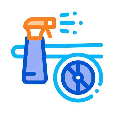 Wash Spray Plane Icon Vector. Outline Wash Spray Plane Sign. Isolated Contour Symbol Illustration