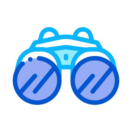 Binocular Tool Icon Vector. Outline Binocular Tool Sign. Isolated Contour Symbol Illustration