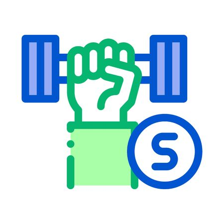 Hand Dumbbell Icon Vector. Outline Hand Dumbbell Sign. Isolated Contour Symbol Illustration Ilustracja