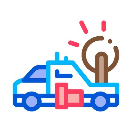 Synoptic Truck Icon Vector. Outline Synoptic Truck Sign. Isolated Contour Symbol Illustration 向量圖像