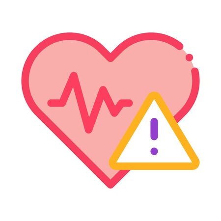 Heart Disease Icon Vector. Outline Heart Disease Sign. Isolated Contour Symbol Illustration Ilustracja