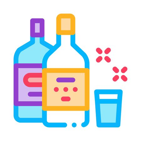 Drink Bottle Cup Icon Vector. Outline Drink Bottle Cup Sign. Isolated Contour Symbol Illustration