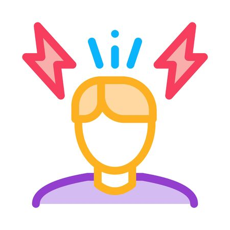 Stressed Man Icon Vector. Outline Stressed Man Sign. Isolated Contour Symbol Illustration Illustration