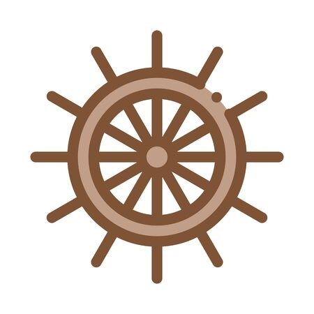 Steering Wheel Icon Vector. Outline Steering Wheel Sign. Isolated Contour Symbol Illustration
