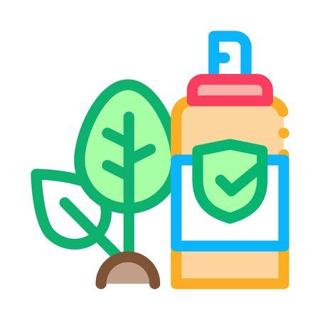 Spray Plant Leaf Icon Vector. Outline Spray Plant Leaf Sign. Isolated Contour Symbol Illustration Ilustrace