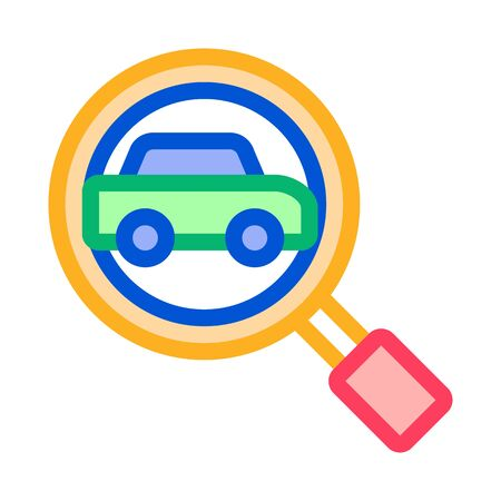 Car Searching Icon Vector. Outline Car Searching Sign. Isolated Contour Symbol Illustration