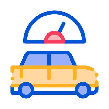 Car Speedometer Icon Vector. Outline Car Speedometer Sign. Isolated Contour Symbol Illustration Standard-Bild - 138390640