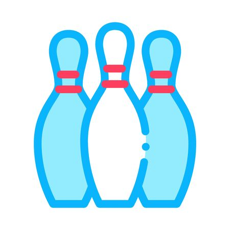 Bowling Skittles Icon Vector. Outline Bowling Skittles Sign. Isolated Contour Symbol Illustration Ilustracja