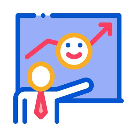 Human Smile Board Icon Vector. Outline Human Smile Board Sign. Isolated Contour Symbol Illustration
