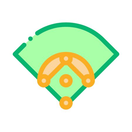 Baseball Field Icon Vector. Outline Baseball Field Sign. Isolated Contour Symbol Illustration Ilustrace