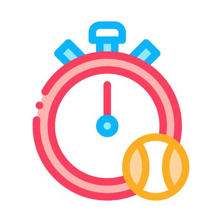 Stopwatch Ball Icon Vector. Outline Stopwatch Ball Sign. Isolated Contour Symbol Illustration