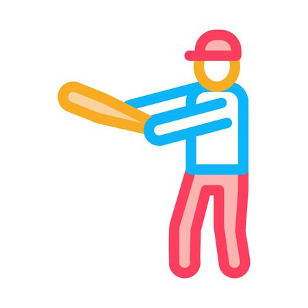 Baseball Gamer Icon Vector. Outline Baseball Gamer Sign. Isolated Contour Symbol Illustration