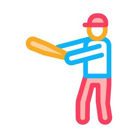 Baseball Gamer Icon Vector. Outline Baseball Gamer Sign. Isolated Contour Symbol Illustration