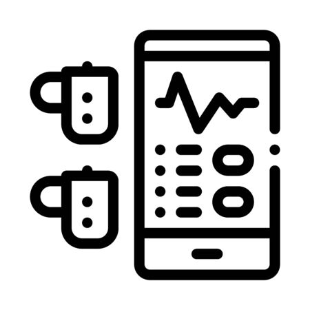 Monitoring Device Hearing Icon Vector. Outline Monitoring Device Hearing Sign. Isolated Contour Symbol Illustration Vectores