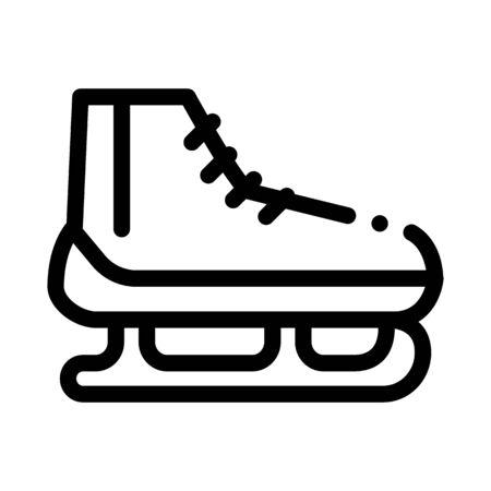 Skates Icon Vector. Outline Skates Sign. Isolated Contour Symbol Illustration