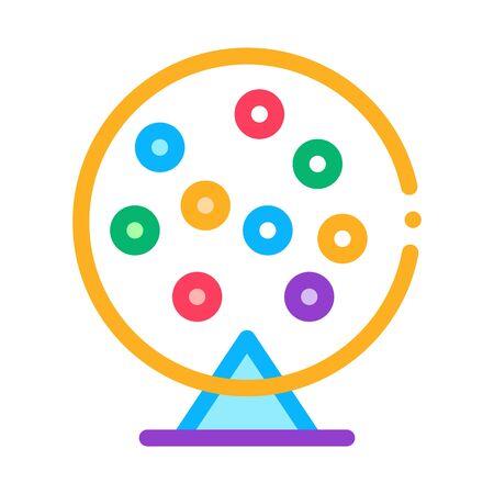 Lottery Drum Icon Vector. Outline Lottery Drum Sign. Isolated Contour Symbol Illustration Illusztráció