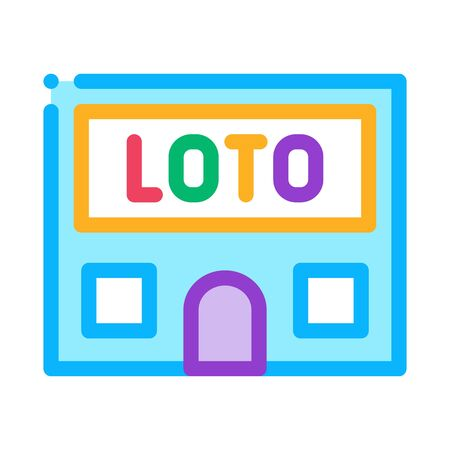 Lotto House Icon Vector. Outline Lotto House Sign. Isolated Contour Symbol Illustration Vettoriali