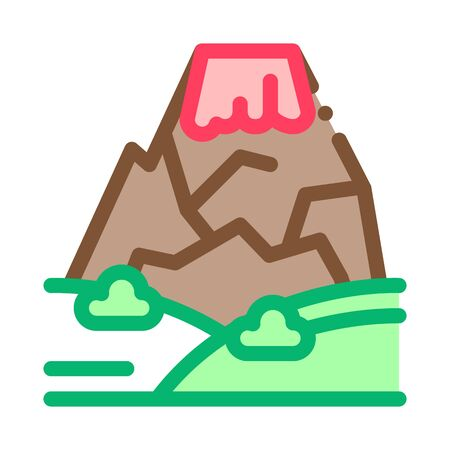 Mountain Concept Icon Vector. Outline Mountain Concept Sign. Isolated Contour Symbol Illustration