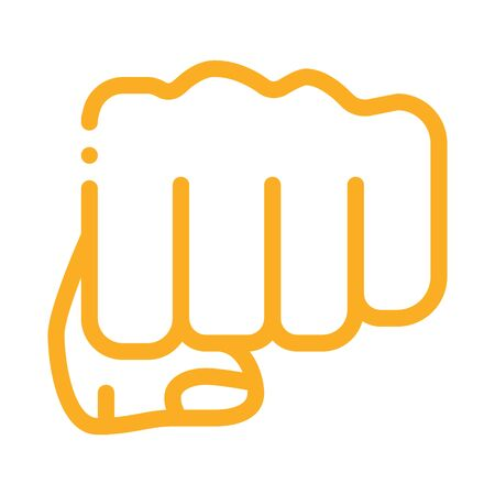 Boxer Fist Punch Icon Vector. Outline Boxer Fist Punch Sign. Isolated Contour Symbol Illustration