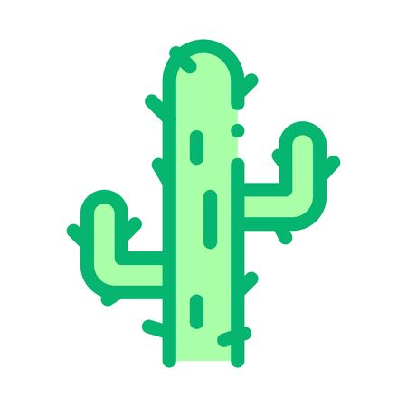 Cactus Icon Vector. Outline Cactus Sign. Isolated Contour Symbol Illustration