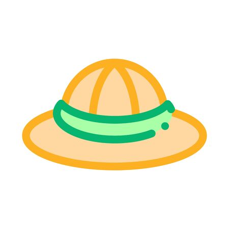 Sun Hat Icon Vector. Outline Sun Hat Sign. Isolated Contour Symbol Illustration