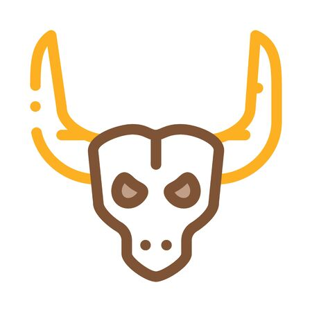 Bull with Horns Icon Vector. Outline Bull with Horns Sign. Isolated Contour Symbol Illustration Stock Illustratie