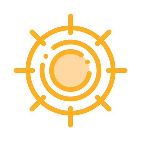 Scorching Sun Icon Vector. Outline Scorching Sun Sign. Isolated Contour Symbol Illustration Stock Illustratie