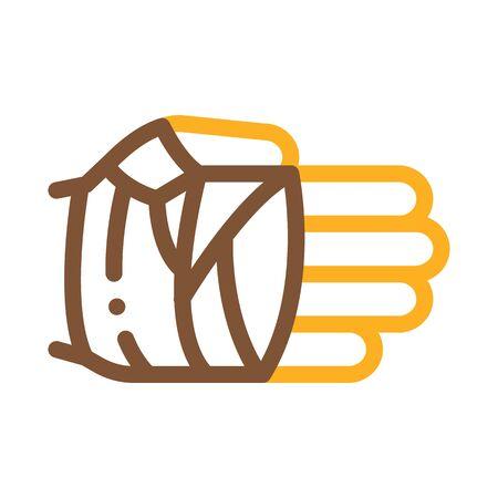 Fist in Protective Bandage Icon Vector. Outline Fist in Protective Bandage Sign. Isolated Contour Symbol Illustration Vektorgrafik