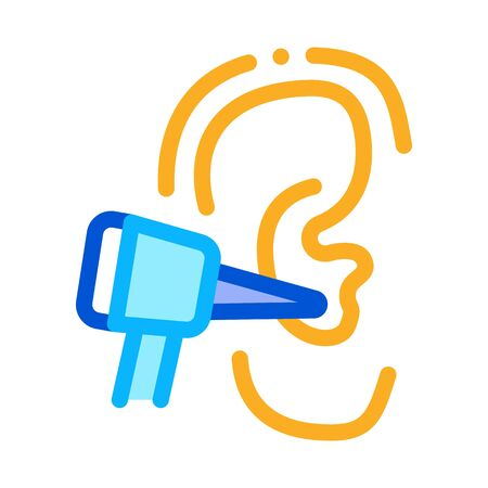 Ear Check Icon Vector. Outline Ear Check Sign. Isolated Contour Symbol Illustration
