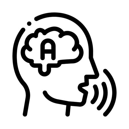 Thinking Out Loud Icon Vector. Outline Thinking Out Loud Sign. Isolated Contour Symbol Illustration Ilustração