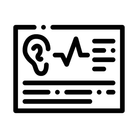 Article Hearing Icon Vector. Outline Article Hearing Sign. Isolated Contour Symbol Illustration