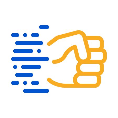 Fast Fist Hit Icon Vector. Outline Fast Fist Hit Sign. Isolated Contour Symbol Illustration Ilustración de vector