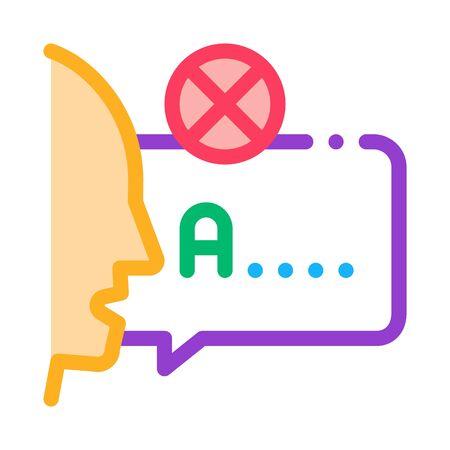 Mispronunciation Icon Vector. Outline Mispronunciation Sign. Isolated Contour Symbol Illustration Vector Illustration