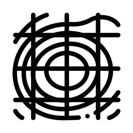 Topographic Landscape Map Icon Thin Line Vector. Topographic Relief Land Scape Territory, Cartography Diagram Concept Linear Pictogram. Monochrome Outline Sign Isolated Contour Symbol Illustration Ilustração Vetorial