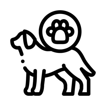 Dog Footprint Icon Vector. Outline Dog Footprint Sign. Isolated Contour Symbol Illustration Ilustracja