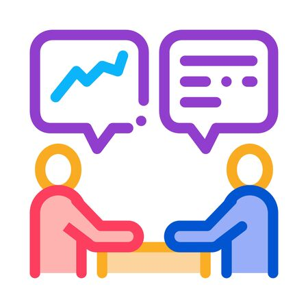 Human Discussing Icon Vector. Outline Human Discussing Sign. Color Isolated Contour Symbol Illustration Ilustración de vector