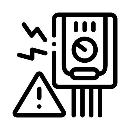 Short Circuit Icon Vector. Outline Short Circuit Sign. Isolated Contour Symbol Illustration