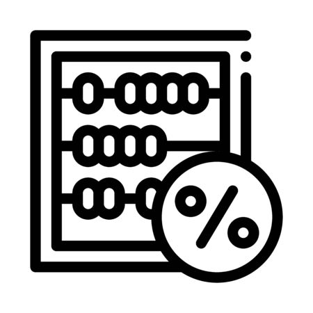 Abacus Count Tool Icon Vector. Outline Abacus Count Tool Sign. Isolated Contour Symbol Illustration
