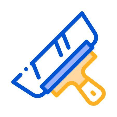 Palette Knife Icon Vector. Outline Palette Knife Sign. Color Isolated Contour Symbol Illustration
