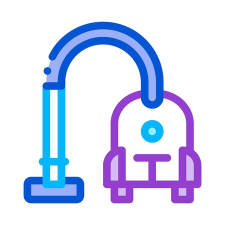 Vacuum Cleaner Icon Vector. Outline Vacuum Cleaner Sign. Isolated Contour Symbol Illustration