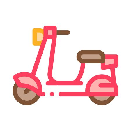 Scooter Icon Vector. Outline Scooter Sign. Isolated Contour Symbol Illustration