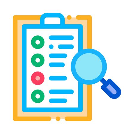 Document Research Icon Vector. Outline Document Research Sign. Isolated Contour Symbol Illustration